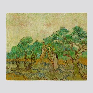 The Olive Orchards by Vincent van Gogh Throw Blank