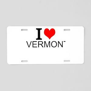 I Love Vermont Aluminum License Plate