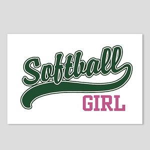 Softball Girl Postcards (Package of 8)