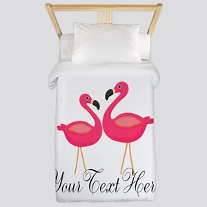 Pink Flamingos Twin Duvet