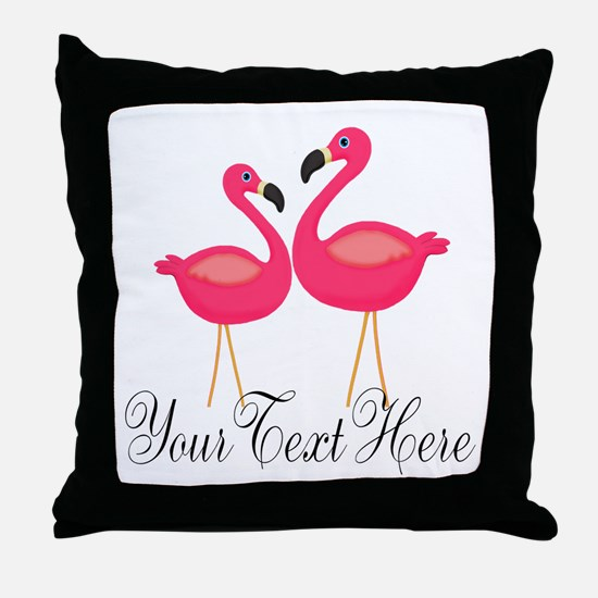 Pink Flamingos Throw Pillow