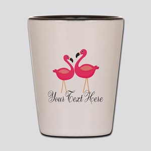 Pink Flamingos Shot Glass