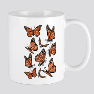 Geometric Monarch Butterfly Mugs