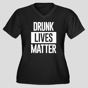 Drunk Lives Women's Plus Size V-Neck Dark T-Shirt