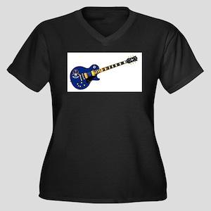 Michigan State Flag Guitar Plus Size T-Shirt