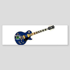 Maine State Flag Guitar Bumper Sticker