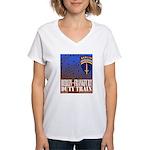 The Berlin to Frankfurt Duty Women's V-Neck T-Shir
