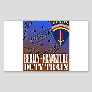 The Berlin to Frankfurt Duty Rectangle Sticker