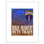 The Berlin to Frankfurt Duty Small Poster