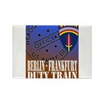 The Berlin to Frankfurt Duty Rectangle Magnet (100