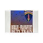 The Berlin to Frankfurt Duty Rectangle Magnet