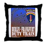 The Berlin to Frankfurt Duty Throw Pillow