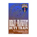 The Berlin to Frankfurt Duty Mini Poster Print