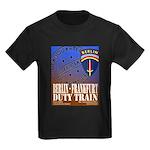 The Berlin to Frankfurt Duty Kids Dark T-Shirt