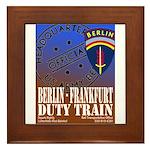 The Berlin to Frankfurt Duty Framed Tile