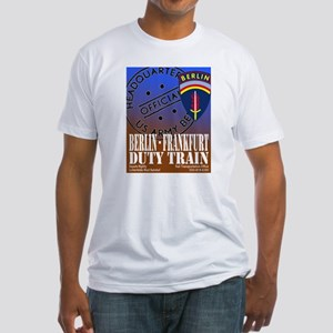 The Berlin to Frankfurt Duty Fitted T-Shirt