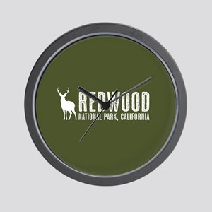 Deer: Redwood, California Wall Clock
