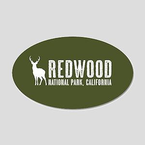 Deer: Redwood, California 20x12 Oval Wall Decal