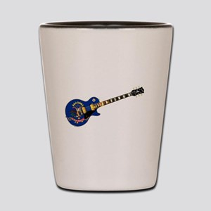North Dakota State Flag Guitar Shot Glass
