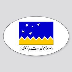 Magallanes Chile - Flag Oval Sticker