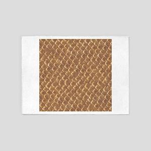 Snake Skin Pattern 5'x7'Area Rug