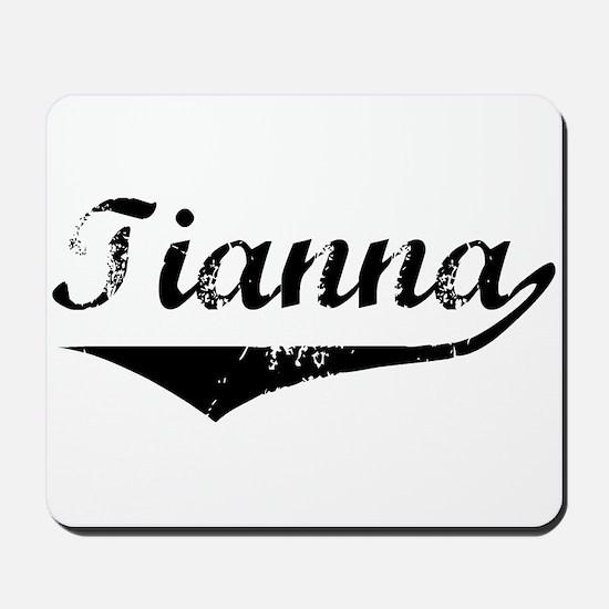 Tianna Vintage (Black) Mousepad