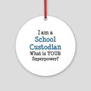 school custodian Round Ornament