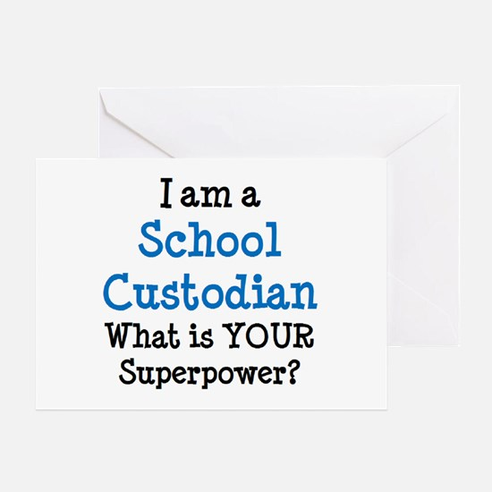 school custodian Greeting Card