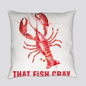 Red Lobster Watercolors That Fish Everyday Pillow