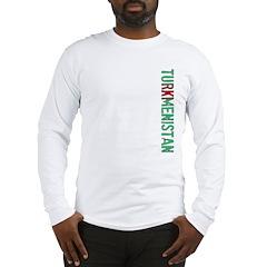 Turkmenistan Stamp Long Sleeve T-Shirt