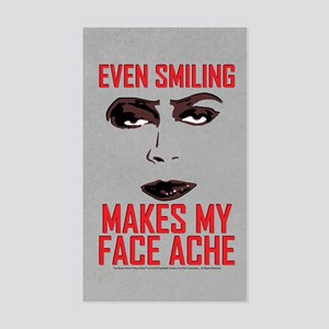Rocky Horror Face Ache Sticker (Rectangle)