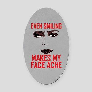 Rocky Horror Face Ache Oval Car Magnet