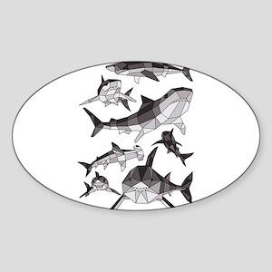 Geometric Sharks Sticker