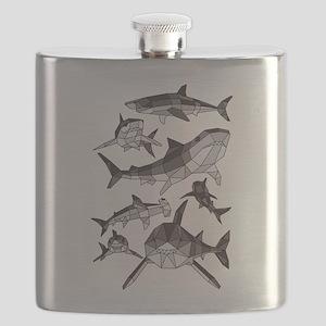 Geometric Sharks Flask