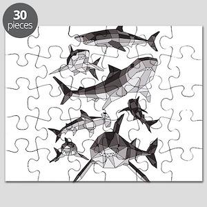 Geometric Sharks Puzzle
