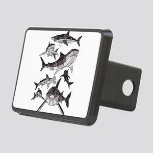 Geometric Sharks Rectangular Hitch Cover