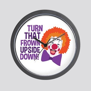 Frown Updide Down Wall Clock