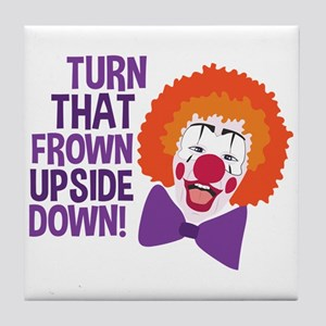 Frown Updide Down Tile Coaster