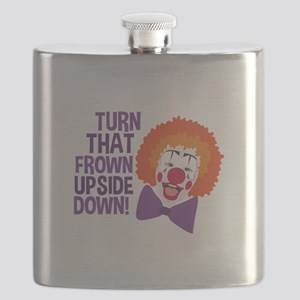 Frown Updide Down Flask