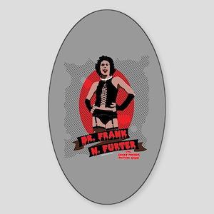 Rocky Horror Dr Frank-N-Furter Sticker (Oval)