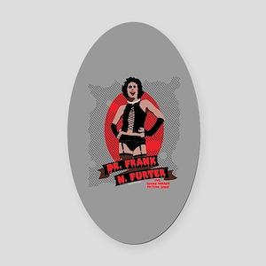 Rocky Horror Dr Frank-N-Furter Oval Car Magnet
