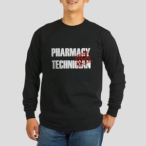 Off Duty Pharmacy Technician Long Sleeve Dark T-Sh