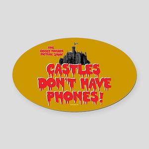 Rocky Horror Castles Oval Car Magnet