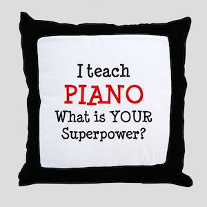teach piano Throw Pillow