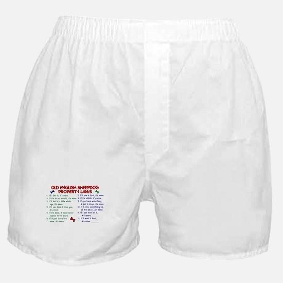 Old English Sheepdog Property Laws 2 Boxer Shorts
