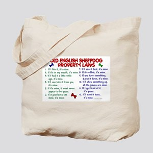 Old English Sheepdog Property Laws 2 Tote Bag