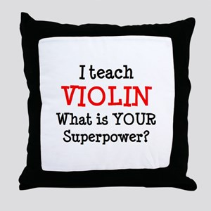 teach violin Throw Pillow