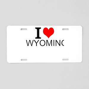 I Love Wyoming Aluminum License Plate