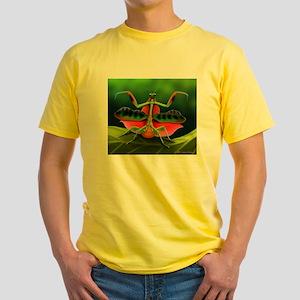 Tropical Praying Mantis on Leaf T-Shirt