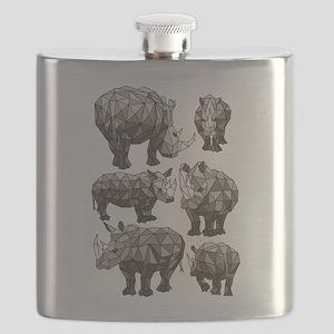 Geometric Rhino Flask